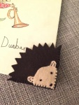 Waldorf Craft Hedgehog Corner Bookmark